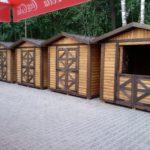 деревянный домик для торговли